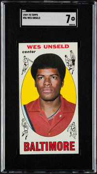 1969-70 Topps Wes Unseld #56 SGC NM 7