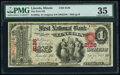 Lincoln, IL - $1 Original Fr. 382a The First National Bank Ch. # 2126 PMG Choice Very Fine 35