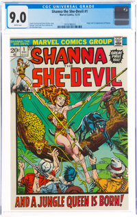 Shanna the She-Devil #1 (Marvel, 1972) CGC VF/NM 9.0 White pages