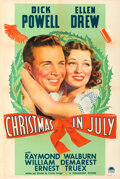 Movie Posters:Comedy, Christmas in July (Paramount, 1940). Very Fine- on Linen.