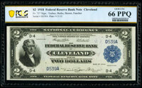 Low Serial Number D539A Fr. 757 $2 1918 Federal Reserve Bank Note PCGS Banknote Gem Unc 66 PPQ