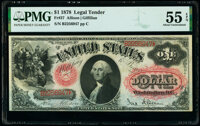 Fr. 27 $1 1878 Legal Tender PMG About Uncirculated 55 EPQ