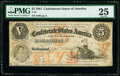 Confederate Notes:1861 Issues, T32 $5 1861 PF-2 Cr. 249 PMG Very Fine 25.. ...