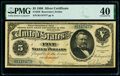 Large Size:Silver Certificates, Fr. 259 $5 1886 Silver Certificate PMG Extremely Fine 40.. ...