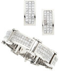 Estate Jewelry:Suites, Diamond, White Gold Jewelry Suite . ... (Total: 2 Items)