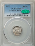 1837 H10C No Stars, Small Date (Flat Top 1) MS64+ PCGS. CAC. PCGS Population: (74/53 and 4/7+). NGC Census: (5/17 and 0/...