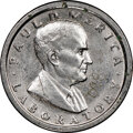 """INCO 10 cent. MS67 NGC. 1964 RDM-1 portrait. RB-2000. """"098-22"""" engraved in obverse field. 2.11 g. 95% nickel..."""