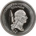 (1977-78) Gould $1. MS69 NGC. RB-1600. 4.25 g. Titanium. Magnificent, essentially perfect example of powdered metal tech...