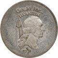 (1977-78) Gould $1. MS62 NGC. RB-1055. 4.34 g. Struck in titanium. Smooth gray surfaces, which is unusual for Gould's po...