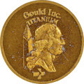 (1977-78) Gould $1. MS65 NGC. RB-1060. 4.34 g. Struck in anodized titanium to produce a rich light copper color. Beautif...