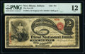 National Bank Notes:Indiana, New Albany, IN - $2 Original Fr. 387a The First National Bank Ch. # 701 PMG Fine 12.. ...