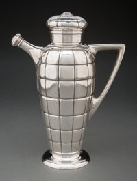 Gorham Manufacturing Co. (American, est. 1831) Cocktail Shaker, 1929 Silver 12-1/2 x 9 x 4-1/2 inches (31.8 x 22.9 x