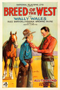 Movie Posters:Western, Breed of the West (Big 4 Film, 1930). Very Fine+ on Linen....