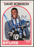Autographs:Sports Cards, Signed 1989 NBA Hoops David Robison #138 Rookie Card....