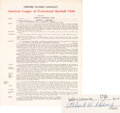 Baseball Collectibles:Others, 1964 Al Kaline Signed Detroit Tigers Player's Contract.
