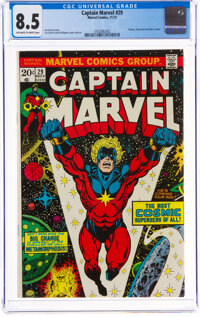 Captain Marvel #29 (Marvel, 1973) CGC VF+ 8.5 Off-white to white pages