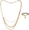 Luxury Accessories:Accessories, Louis Vuitton Set of Two: Las Vegas Necklace and Luck It 17 Bracelet . Condition: 2. See Extended Condition Report for... (Total: 2 Items)