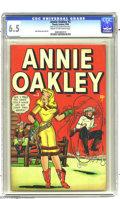 Golden Age (1938-1955):Western, Annie Oakley #3 (Timely, 1948) CGC FN+ 6.5 Cream to off-white pages. Dave Berg story and art. Overstreet 2003 FN 6.0 value =...