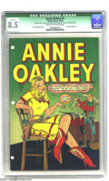 Golden Age (1938-1955):Western, Annie Oakley #4 (Timely, 1948) CGC Qualified VF+ 8.5 Cream to off-white pages. Dave Berg plot and art. Last issue until May,...