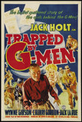 "Movie Posters:Crime, Trapped by G-Men (Columbia, 1937). One Sheet (27"" X 41""). Crime...."