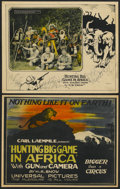 """Movie Posters:Documentary, Hunting Big Game in Africa (Universal, 1923). Title Lobby Card and Lobby Card (11"""" X 14""""). Documentary.... (Total: 2 Items)"""