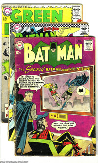 DC Silver Age Group (DC, 1960-67) Condition: Average GD. This group consists of 12 comics: Batman #131, Brave and the...