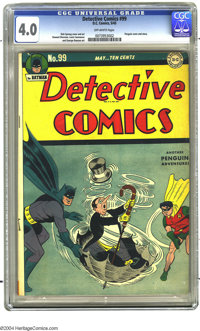 Detective Comics #99 (DC, 1945) CGC VG 4.0 Off-white pages. Penguin cover. Dick Sprang cover and art. Overstreet 2003 VG...