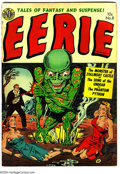 Golden Age (1938-1955):Horror, Eerie #8 (Avon, 1952) Condition: VG+. Bondage cover. Art by EverettRaymond Kinstler. Overstreet 2003 VG 4.0 value = $64....