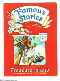 Famous Stories #1 Treasure Island (Dell, 1942) Condition: FN+. Partial greytone cover. Overstreet 2003 FN 6.0 value = $9...