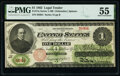 Fr. 17a $1 1862 Legal Tender PMG About Uncirculated 55