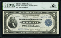 Fr. 749 $2 1918 Federal Reserve Bank Note PMG About Uncirculated 55