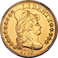 1795 $5 Small Eagle, BD-8, High R.5 -- Repaired -- NGC Details. AU....(PCGS# 519857)