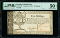 Colonial Notes:Georgia, Georgia October 16, 1786 10s PMG About Uncirculated 50 EPQ.. ...