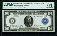 Fr. 1088 $100 1914 Federal Reserve Note PMG Choice Uncirculated 64