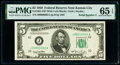 Small Size:Federal Reserve Notes, Fr. 1961-J $5 1950 Wide I Federal Reserve Note. PMG Gem Uncirculated 65 EPQ.. ...