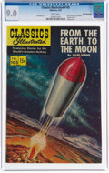 Golden Age (1938-1955):Classics Illustrated, Classics Illustrated #105 From the Earth to the Moon - First Edition - White Mountain Pedigree (Gilberton, 1953) CGC VF/NM 9.0...
