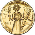 2015-W $100 High Relief One-Ounce Gold, First Strike, MS70 Prooflike NGC....(PCGS# 546023)