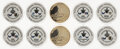 Hockey Collectibles:Others, 2018 Washington Capitals Victory Set of 5 Coins, Lot of 2. ...