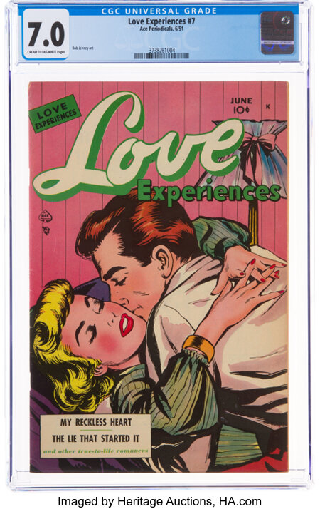 Love Experiences #7 (Ace, 1951) CGC FN/VF 7.0 Cream to off-white pages....