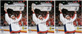 Autographs:Photos, 2018 Alexander Ovechkin Signed Oversized Photograph Lifting Stanley Cup, Lot of 3. ...