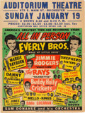 Music Memorabilia:Posters, Buddy Holly & The Crickets, Everly Brothers, Eddie Cochran...