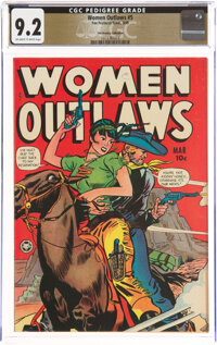 Women Outlaws #5 The Promise Collection Pedigree (Fox Features Syndicate, 1949) CGC NM- 9.2 Off-white to white pages