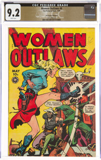 Women Outlaws #6 The Promise Collection Pedigree (Fox Features Syndicate, 1949) CGC NM- 9.2 White pages