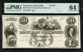 Knoxville, TN- Bank of East Tennessee $50 18__ G52 Proof PMG Choice Uncirculated 64 EPQ