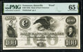 Knoxville, TN- Bank of East Tennessee $100 18__ G54a Proof PMG Gem Uncirculated 65 EPQ
