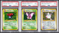 Memorabilia:Trading Cards, Pokémon First Edition Jungle Set Trading Cards Group of 3 (Media Factory, 1996) PSA MINT 9.... (Total: 3 Items)