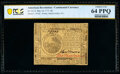 Continental Currency May 10, 1775 $6 PCGS Banknote Choice Unc 64 PPQ
