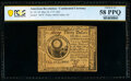 Continental Currency May 10, 1775 $30 PCGS Banknote Choice AU 58 PPQ