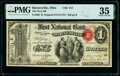 Barnesville, OH - $1 Original Fr. 380 The First National Bank Ch. # 911 PMG Choice Very Fine 35