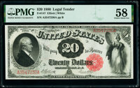 Fr. 147 $20 1880 Legal Tender PMG Choice About Unc 58